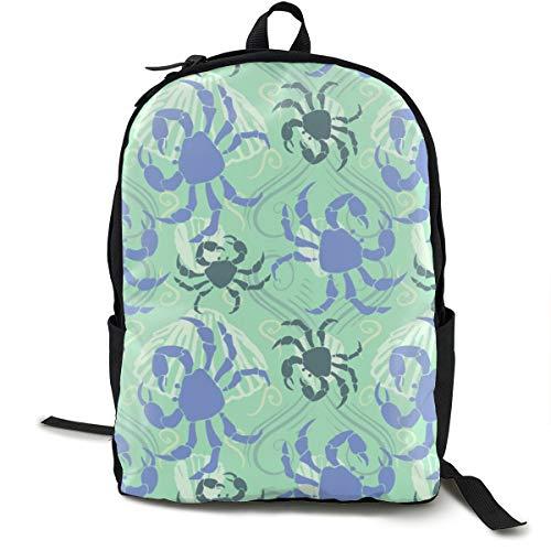 Crabella - Mochila clásica, color verde Png, casual, gran capacidad, bolsa para ordenador portátil, para adolescentes, mujeres, hombres, viajes, senderismo