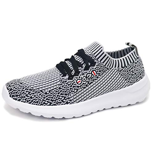 Forucreate Womens Comfortable Walking Sock Shoes Flats Casual Work Sneakers Tennis Shoes(Black 39)