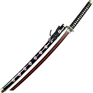 SUKLIER Épée en Bois Roronoa Zoro Blade Cos, pour Une pièce Roronoa Zoro Shusui, modèle d'arme Accessoire, pour Les Amateu...