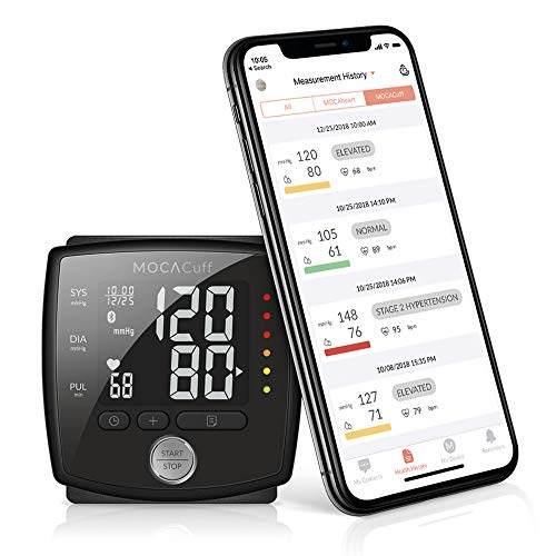 MOCACuff Bluetooth Blood Pressure Monitor, Fully Automatic Accurate Wrist, FDA Blood Pressure...