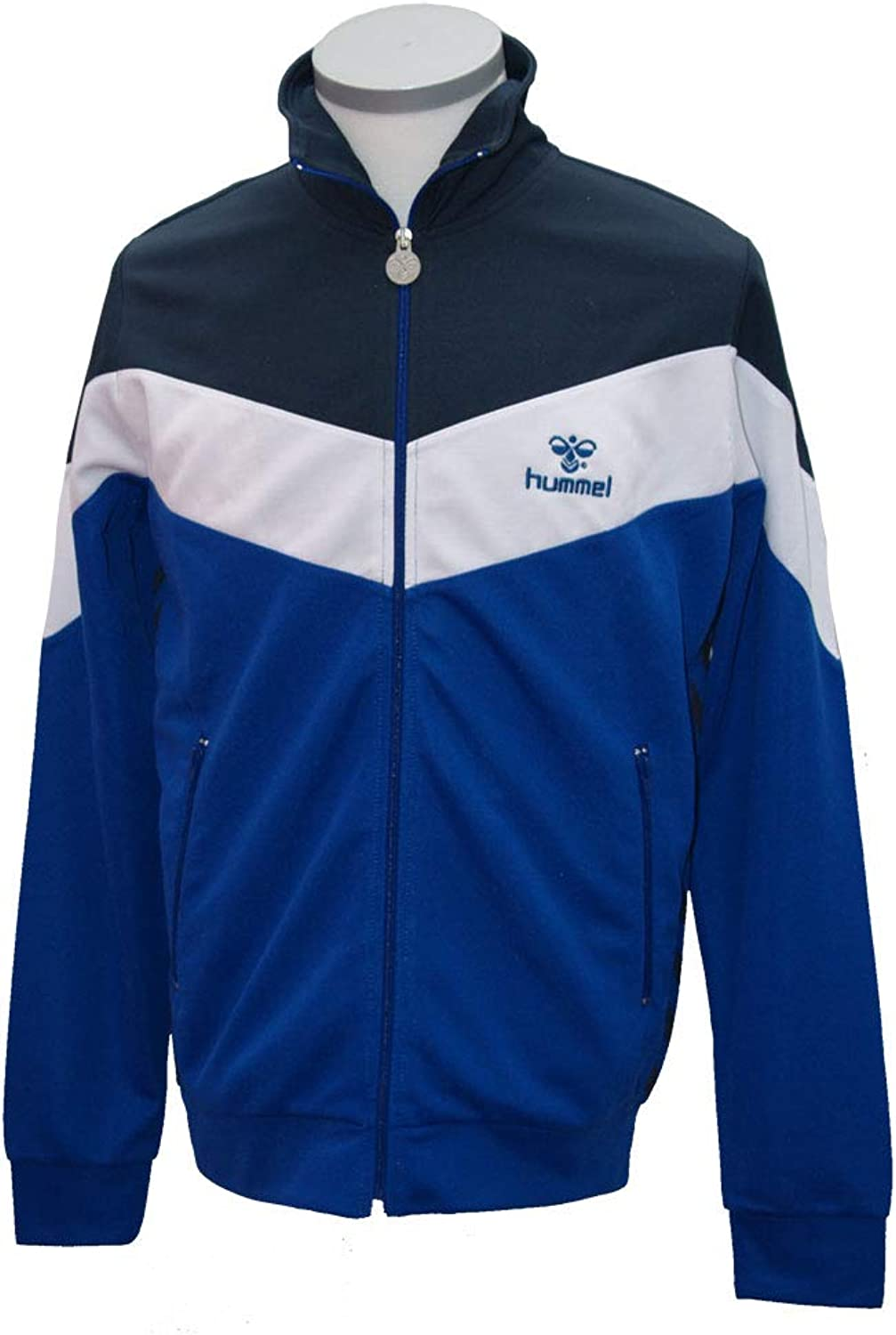 Hummel Miner Zip Jacket, Navy royal Weiß, Gre M