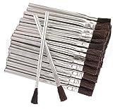 RAM-PRO 144 Flexible Bristle Tin/Metal Tubular Ferrule Handle Acid/Flux Brushes for Home/School/Shop/Garage