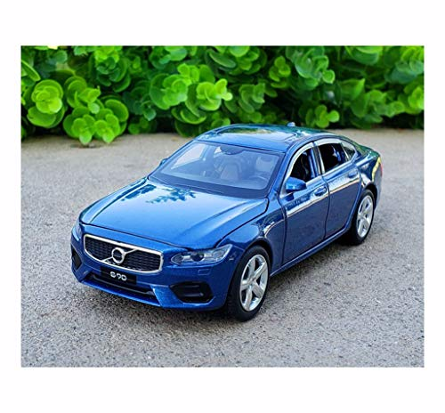 1:32 Model Car/Compatible with Volvo S90/Car Alloy Car Model Sound and Light Pull Back Toy Car Simulation Metal Car Model Decoration (Color : C)