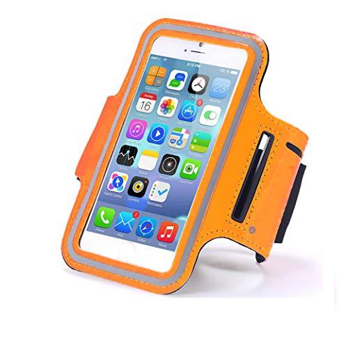 axelens Brazalete Deportivo Universal para Movìles de hasta 6.5 Pulgadas - iPhone 6/7/8 Plus / 11 Pro/Pro MAX/iPhone X/XS/Galaxy S6 / 7/8/9/10 A5 Note 9 - Naranja