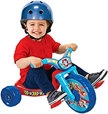 """Paw Patrol 10"""" Fly Wheels Junior Cruiser Ride-On Pedal-Powered Toddler Bike/Trike, Ages 2-4, for Kids 33""""-35"""" Tall and up to 35 Lbs"""