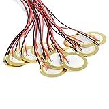 15PCS Pastillas Acústicas,Discos Piezoeléctricos de 27 mm,Elementos Piezoeléctricos,Discos Piezoeléctricos con 33mm Cable de Plomo Zumbador Piezoeléctrico para Sustituir Relojes,Juguetes,Alarmas