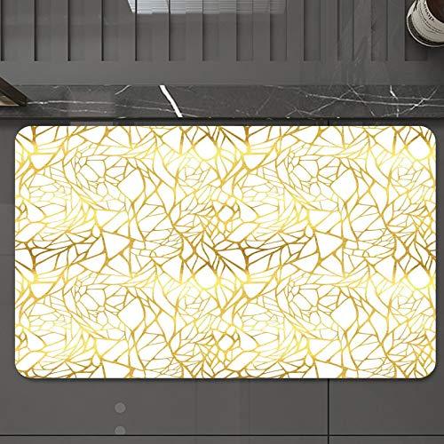 Alfombrilla de Baño Antideslizantes de 50X80 cm,Contemporáneo, Adorno abstracto, Estilo anim, Tapete para el Piso Lavable a Máquina con Microfibras Suaves Absorbentes de Agua para Bañera, Ducha y Baño
