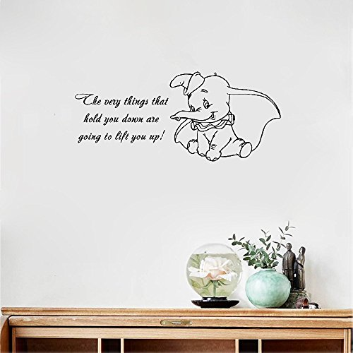 pegatinas de pared Wall Decal Sticker baratas decoración Mural frases Dumbo frases The Very Wall Sticker Baby niñas Boy infantiless Room baratas decoración Bedroom infantiles Poster Decor Mural