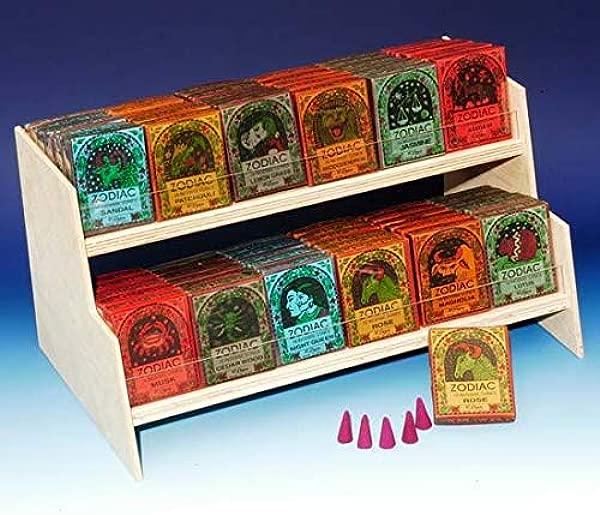 Zodiac Incense Cones Display 72 Packs Of 16 Cones