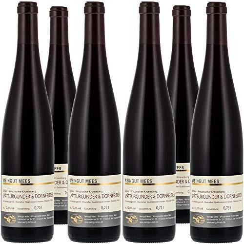 Weingut Mees SPÄTBURGUNDER & DORNFELDER ROTWEIN 2016 KREUZNACHER KRONENBERG Cuvee Prämiert Wein Deutschland Nahe Paket (6 x 750 ml)