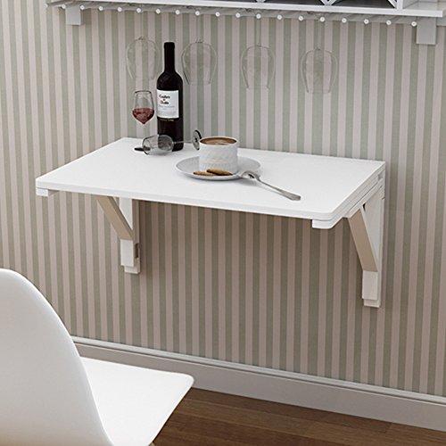 Wand-Drop-Blatt Tisch Klapptisch Esszimmer Computer Schreibtisch Kaffee Space Saver Falten Cabrio Weiß (größe : 120 * 50cm)