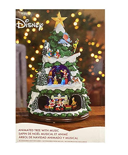 Disney Animated Christmas Tree 17' Inch with 8 Holiday Songs