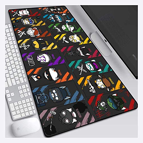 Gaming Mouse Mat, Mouse Mat Rainbow Six Siege 800X300mm Mouse pad, Speed Gaming Mousepad,Rubber Texture Underside Mousemat with 3mm-Thick Base,for notebooks, PC, K ( Color : P )