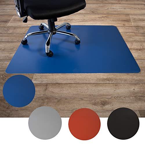 Floordirekt Alfombrilla de protección para suelos duros, de polipropileno, base para silla Buero, alfombrilla protectora para silla, suelo duro, multicolor, 3 tamaños (120 x 150 cm, azul)