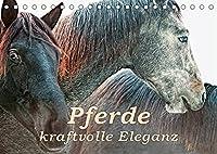 Pferde - kraftvolle Eleganz (Tischkalender 2022 DIN A5 quer): Einzigartige Momentaufnahmen von Pferden (Monatskalender, 14 Seiten )