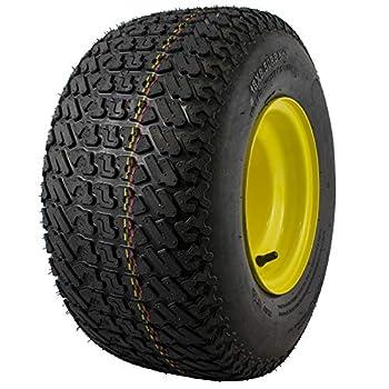 MARASTAR 21428 Radial Rear Tire on Wheel Replacement for John Deere Riding Mowers Tubeless Turf Black 18x8.50-8