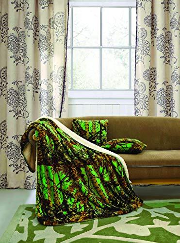 Regal Comfort Bio Hazard Green 5pc Sherpa Throw Pillows