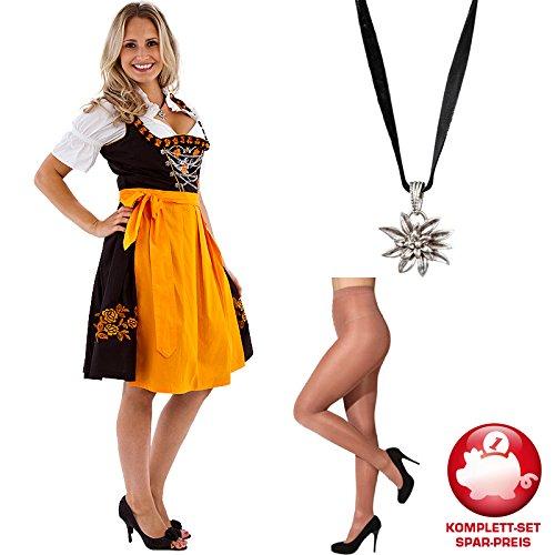 PARTY DISCOUNT Kostüm-Set Dirndl Belinda Strumpfhose Kette Gr. 46