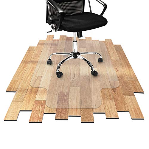 Desk Chair Mat for Hardwood Floor - Hard Floor Protection Mat for Office & Home | Many Sizes Available | Clear - 48