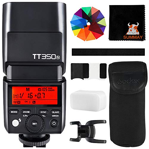GODOX TT350N TTL 2.4G Camera Flash GN36 1/8000s HSS Wireless Mini Flash Speedlight for Nikon Mirrorless Cameras