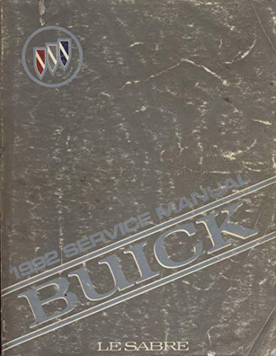 1992 Buick Lesabre Le Sabre Service Manual (GM Factory Repair)