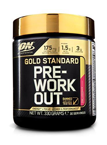 Optimum Nutrition Gold Standard Pre-Work Out Pink Lemonade, 330 g