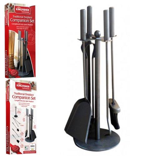 Traditional 5pc Fireplace Companion Set Standard Poker/Tong/Shovel/Brush by FunkyBuys