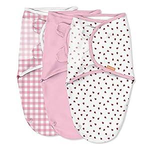 crib bedding and baby bedding swaddleme original swaddle – size small/medium, 0-3 months, 3-pack (ladybug picnic)