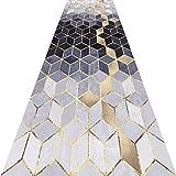 KKCF Läufer Teppiche Flur 3D Geometrie Kann Geschnitten Werden Anti-Warping