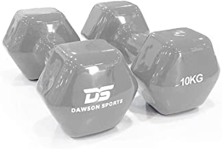 DAWSON SPORTS Unisex Adult 12256 Vinyl Dumbbell - 10kg (12256) - Ash Grey, 10kg