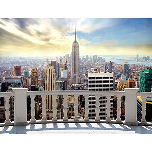 Fototapeten New York 352 x 250 cm Vlies Wand Tapete Wohnzimmer Schlafzimmer Büro Flur Dekoration Wandbilder XXL Moderne Wanddeko 100% MADE IN GERMANY -Stadt City NY Runa Tapeten 9027011a