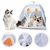Sfit - Tienda de campaña para animales de verano, cesta para mascotas, cojín para caseta para gatos, bolsa de dormir extraíble lavable, manta para perro, gato, casa, cómoda, muy suave y portátil