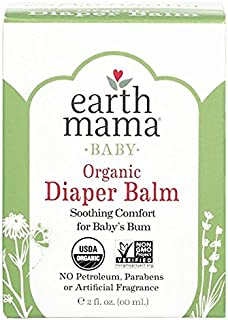 Organic Diaper Balm by Earth Mama | Safe Calendula Cream to Soothe and Protect Sensitive Skin, Non-GMO Project Verified, 2...
