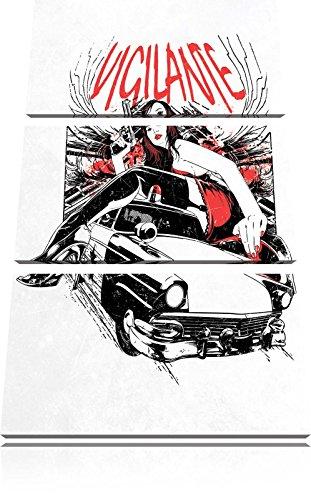 Vigilante light Bild 3-Teiler Leinwandbild 120x80 Bild auf Leinwand, XXL riesige Bilder fertig gerahmt mit Keilrahmen, Kunstdruck auf Wandbild mit Rahmen, gänstiger als Gemälde oder Ölbild, kein Poster oder Plakat