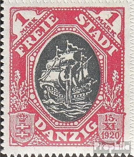 Prophila Collection Danzig 58I, Kogge im Feuer (Feld 10) 1921 Handelskogge (Briefmarken für Sammler) Seefahrt