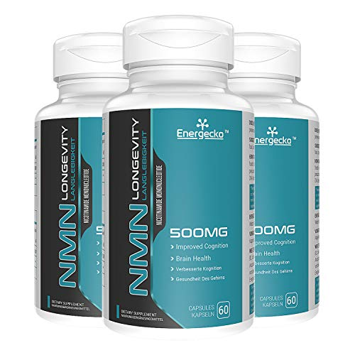 3 PCs NMN 500mg 60 Capsules - 60 Servings - High Absorption Nicotinamide Mononucleotide Supplement - Double The Usage time and Reduce The Purchase Cycle.