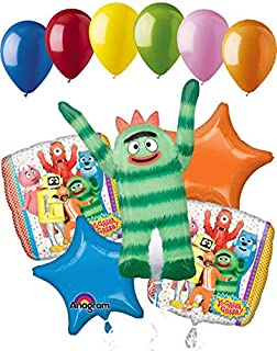 11 pc Yo Gabba Gabba Balloon Bouquet Party Decoration Happy Birthday Nickelodeon