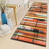 alfombras para Dormitorio 70x320cm por Metros Lavables Antideslizante Pelo Corto Alfombra Larga Cocina para Pasillo Cocina Sala de Estar Dormitorio ColorF
