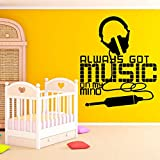 SLQUIET Verrückte musik Cartoon Wandtattoos Pvc Wandkunst Diy Poster Wohnzimmer Kinderzimmer...