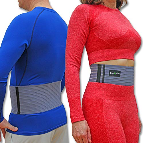 Umbilical Hernia Belt for Men and Women -by EverRelief- Abdominal Binder Support for Hernia Pain and Weakened Abdomen (Large/Extra Large)
