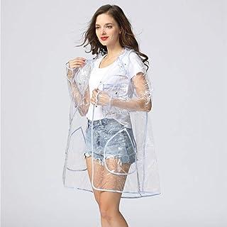 ZWYM Impermeable súper Transparente para Mujeres Moda EVA Impermeable Impermeable Poncho Coat ReutilizableSexy Impermea...