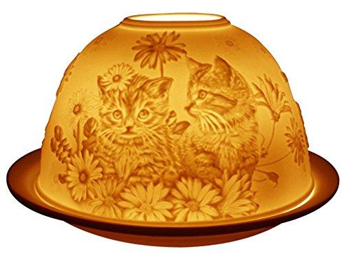 Welink Light-Glow Tealight Candle Holder, Kittens Cats