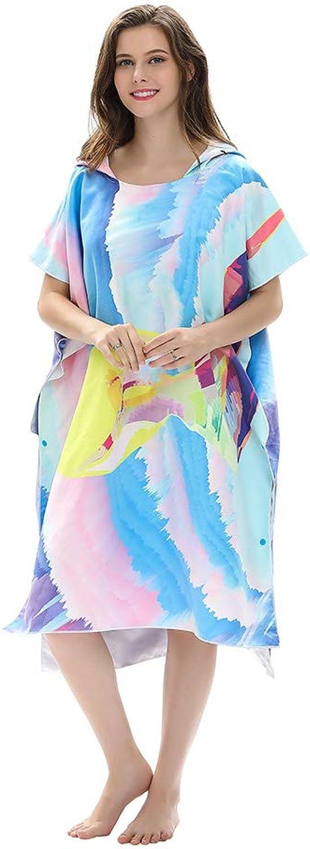 AYUE® Bedrucktes Kapuzenponcho-Handtuch, das die Robe wechselt, Unterarmzugang Unterarmzugang Unterarmzugang für Strand, Surfen und Schwimmen B07PVY3CQR  Freizeit 7cddbf