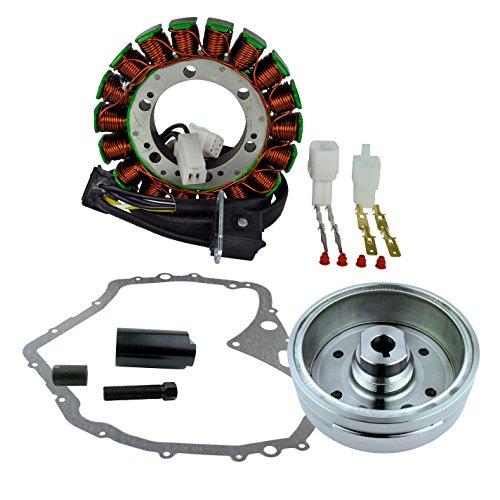 Kit Flywheel + Puller + Stator + Cover Gasket for Arctic Cat 400 Manual 2003-2008 | OEM Repl.# 3430-054/3430-071/0802-037/3430-053