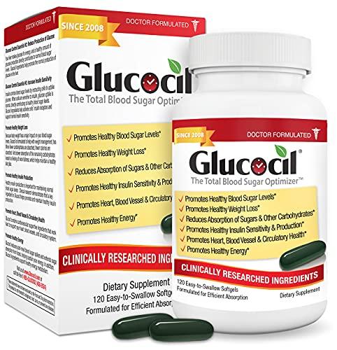 Glucocil – The Total Blood Sugar Optimizer, Over 1 Million Bottles Sold, Premium Blood Sugar Support Supplement, Extra Strength Softgels*, Targets All 3 Essentials for Normal Blood Sugar, Since 2008