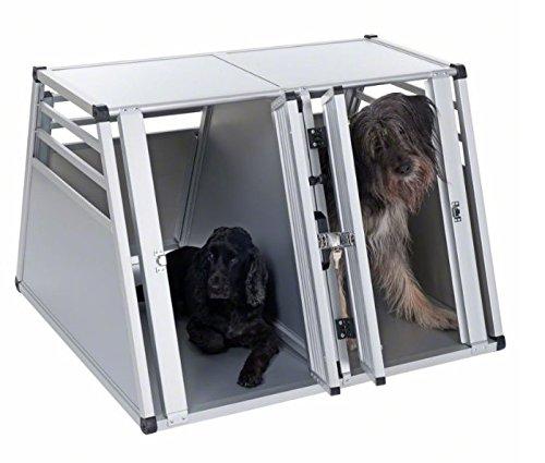 Robust und leicht Doppel Hundebox–Sicher Und Bequeme Art zu transportieren größere Hunde mit dem Pkw