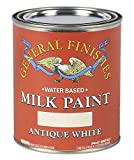 General Finishes Water Based Milk Paint, 1 Quart, Antique White