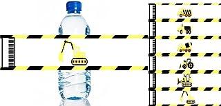 ملصقات زجاجات المياه تحت الإنشاء - 6 قطع