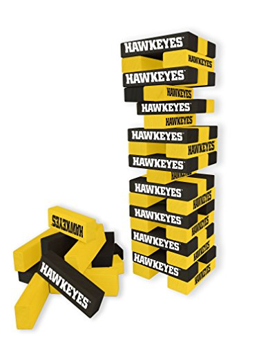 Wild Sports NCAA College Iowa Hawkeyes Table Top Stackers Game