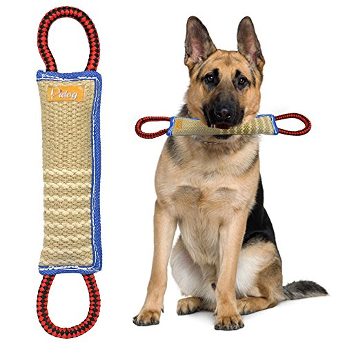Didog Dog Bite Tug Toy with 2 Handles for Training,Sporting and Interaction Tugging Outside(11' Long)